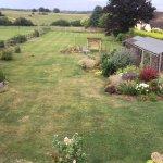The lovely large rear garden