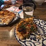 Absolutely delicious pizza. My husband liked the clams and linguine.