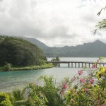 The bridge that connects the two parts of Huahine.