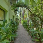 Private walkway to two bedroom/two bath apt
