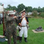 Making a mess of shooting a musket