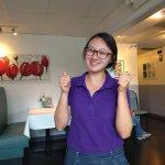 our super fantastic, friendly, attentive waitress