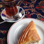 Turkish tea with a sugar cube, and baklava, yum!