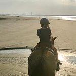 Riding on Driftwood Beach