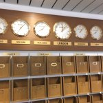 Rolex watches keep time in the Wimbledon press room