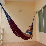 My amazing hammock overlooking the beach