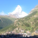 This is a view of the Matterhorn from our room window