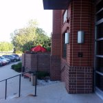parking lot & raised outdoor patio