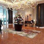 Hotel entrance and lobby