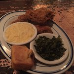 Delicious! Apparently voted best fried chicken in Pensacola, was a little salty but the cheese g
