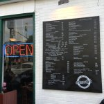 Menu posted outside