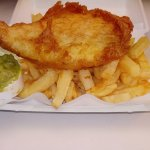 Delicious crispy beer battered Fresh Cod, chips and peas. The proof is in the eating. Come and e