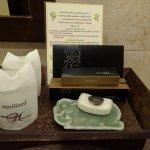 Die wichtigsten Badeutensilien werden vom Hotel zur Verfügung gestellt