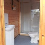 Shower and toilets