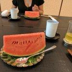 Dessert for $150. Watermelon.