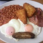 Best fry up in the world.  Good beans  Eggs are the best  Sausage full of flavour and the bacon