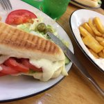 Mozzarella & tomato panini