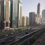 Sheikh Zayed Road in the morning