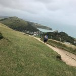 Top of the hill surrounding Lulworth Cove