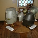 Range of artefacts on display.