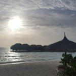Sonnenuntergang vom Beachbungalow