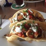 Fish tacos - they look great but were just okay