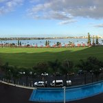 This is the view from room 704 to the Swan River and Sth Perth