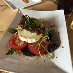 Goats cheese and caramelised onion starter - highly recommended this!!