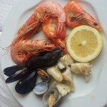 Parrillada de marisco del menú