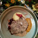 Angus Steak and mushroom sauce