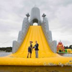 The worlds tallest floating slide according to the Guinness World Records Baysports