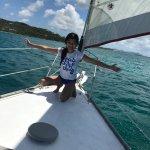 My daughter enjoying the sail!