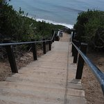 Stairs to the Beach from the Cliff Top Park