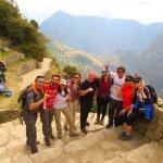 Sun gate before we hit Machu Picchu