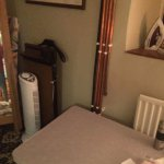Scorching hot pipes next to bed