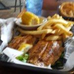 Grilled catfish platter