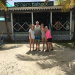 Foxy' Taboo...Jost Van Dyke, Yummy lunch, try the pizza such a treat pizza could sell w/o the vi