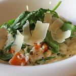 Butternut squash & asparagus risotto.