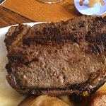 The least overcooked slap of beef. The others were ruined and covered black charcoal gristle.
