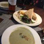 Mushroom soup and cheese savoury sandwich
