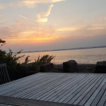 Amazing sunset from the patio at Shoregate house