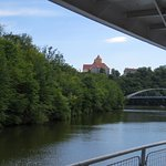 Veveri Castle as seen from the boat ride on the Brno Dam