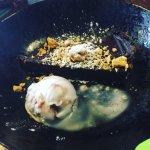 Vegan chocolate torte and coconut ice cream