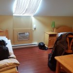 Twin beds, slanted ceiling, air conditioning