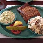 Smoked Salmon, German Potato Salad, Cole Slaw