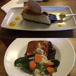 Steak pie and cheesecake! Just delicious!