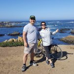 Biking the ocean path