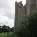 Orford castle with the Crown & Castle in the background