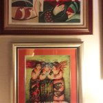 Paint at bottom is from artist Marta Jimenz hanging to day in our houese