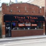 front of & entrance to Thai Thai Restaurant